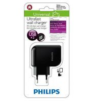PHILIPS 2207 ULTRAFAST DUAL USB WALL CHARGER 5V/2.1A