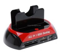 "USB2.0 HDD Docking Station with Backup for 2.5""/3.5"" DUAL SATA HDD"