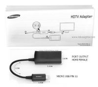 HDTV ADAPTER - MICRO USB MHL CABLE FOR S3 OR GAL NOTE 2
