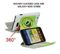 ROTARY LEATHER STAND CASE FOR GALAXY NOTE 1