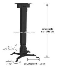 CEILING BRACKET FOR LCD PROJECTOR CRUX-01