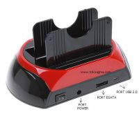 "FOTO BELAKANG - USB2.0 HDD Docking Station with Backup for 2.5""/3.5"" DUAL SATA HDD"
