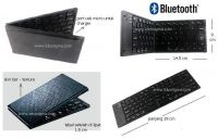 BLUETOOTH FOLDING PORTABLE KEYBOARD BT-7268