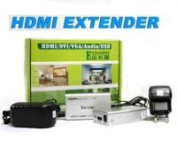 HDMI EXTENDER 60m SINGLE LAN 568b pack green