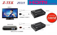 HDMI EXTENDER over 1 CAT5E/6E 100M Z-TEK ZY-215