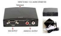 HDMI TO VGA WITH AUDIO R/L CONVERTER metal BOX
