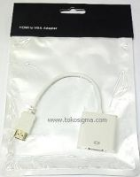 HDMI M TO VGA F ADAPTER CABLE 23cm white - HEAC
