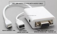 MHL MICRO USB TO VGA F with Audio CABLE ADAPTER