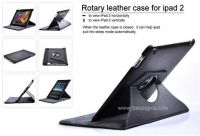 ROTARY 360 DEGREE LEATHER CASE for IPAD 2