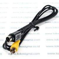 KABEL S-VIDEO PIN 4 male TO 1 RCA male (VIDEO)