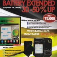 STIKER BATTERY POWER PLUS