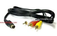 S-VIDEO PIN 7 TO 3 RCA MALE - READY STOCK