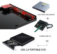 USB 2.0 CASING untuk DVD-R/RW SATA INTERNAL LAPTOP