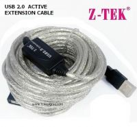 USB 2.0 EXTENSION CABLE 10meter with BOOSTER merk ZTEK