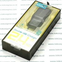 VIVAN DOUBLE USB CHARGER 2.4A OUTPUT MAX