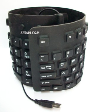 Keyboard Flexible USB non Numerik