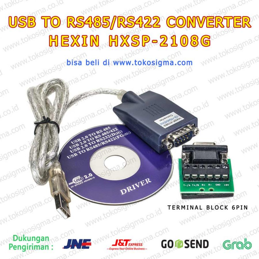 USB 2 0 To SERIAL RS-485/RS-422 Converter HEXIN HXSP-2108G