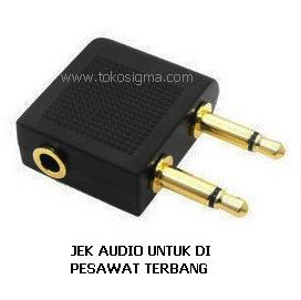 35mm Female To 2x35mm AIRPLANE HEADPHONE AUDIO ADAPTER