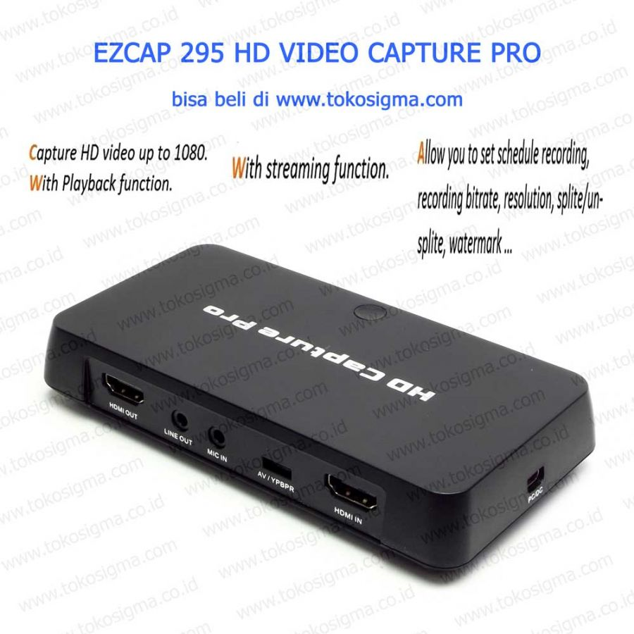 HD CAPTURE PRO EZCAP 295 WITH PLAYBACK AND SCHEDULE REC
