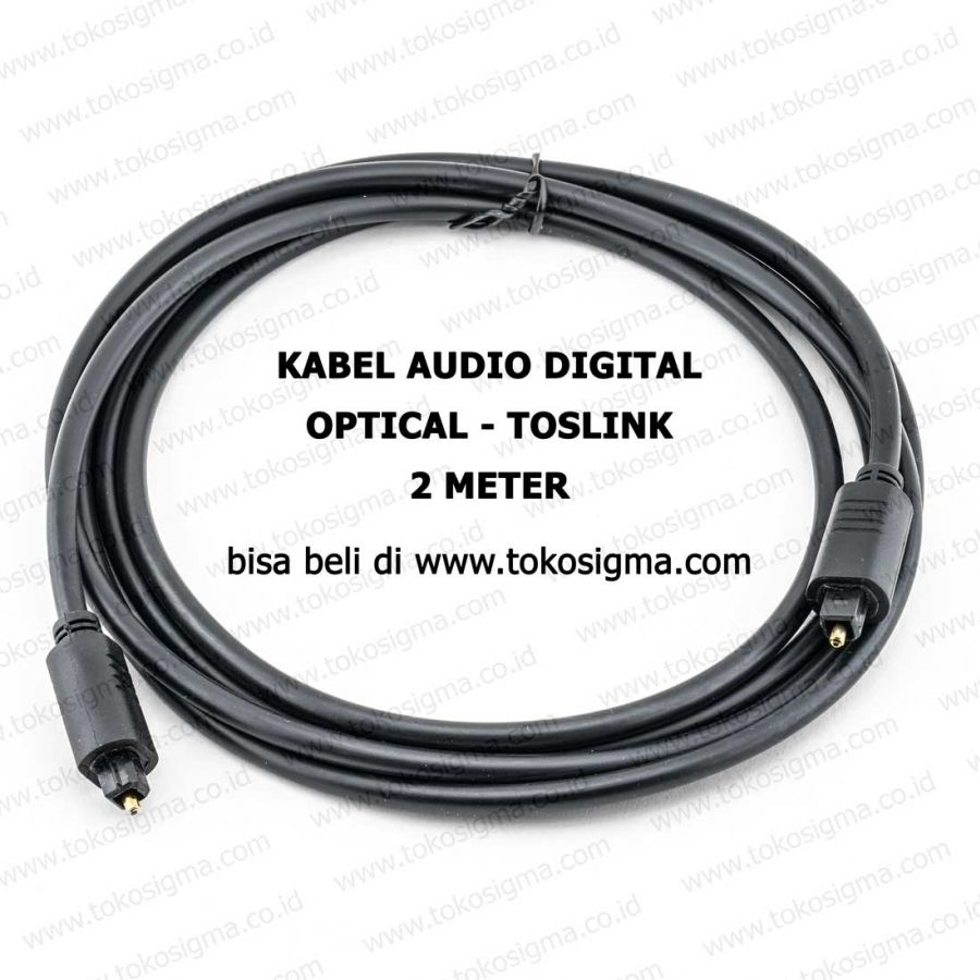 kabel optical toslink digital audio s pdif 2m toko sigma. Black Bedroom Furniture Sets. Home Design Ideas