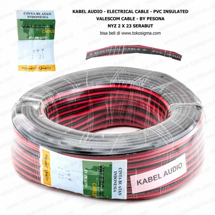Kabel Audio Electrical Cable Nyz 2x23 Serabut Toko Sigma Wiring Accessories